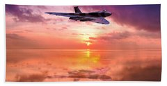 Vulcan Dawn Colour Bath Towel by Ken Brannen