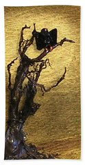 Vulture With Textured Sun Hand Towel