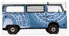 Vw Blue Van Hand Towel