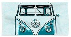 Vw Van Graphic Artwork Hand Towel