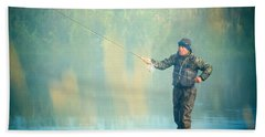 Wading For Trout Bath Towel