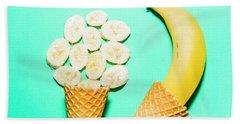 Waffle Cones With Fresh Banana Hand Towel