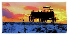 Wagon Hill At Sunset Bath Towel