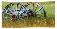 Wagon Wheels Hand Towel by Melanie Alexandra Price