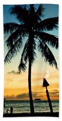 Waikiki Sunset Hand Towel