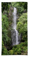Wailua Falls On The Road To Hana, Maui, Hawaii Hand Towel