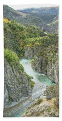 Bath Towel featuring the photograph Waimakariri Gorge by Cheryl Strahl