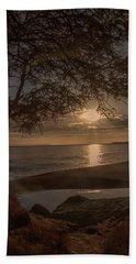 Waimea Bay Sunset 4 Hand Towel