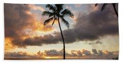 Waimea Beach Sunset - Oahu Hawaii Bath Towel