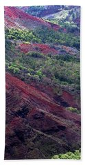 Bath Towel featuring the photograph Waimea Canyon II by Kenneth Campbell