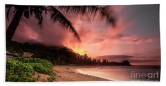 Wainiha Kauai Hawaii Bali Hai Sunset Bath Towel