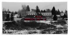 Bath Towel featuring the photograph Heritage Park by Stuart Turnbull