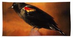 Waiting - Bird Art Bath Towel