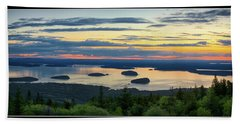 Waiting For Sunrise, Acadia National Park Hand Towel
