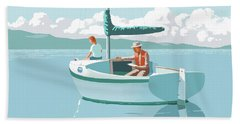 wAITING FOR THE WIND-THE CAL 20 Bath Towel
