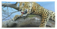 Waiting Game Bath Towel by Mike Brown