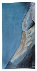Hand Towel featuring the painting Waiting Man by Jindra Noewi