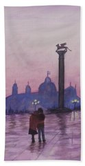 Walk In Italy In The Rain Bath Towel