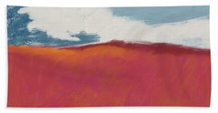 Walk In The Field- Art By Linda Woods Hand Towel