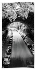 Bath Towel featuring the photograph Walk The Tunnel by Perry Webster