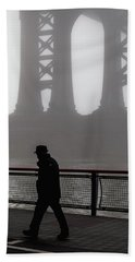 Bath Towel featuring the photograph Walk Thru The Fog... by Anthony Fields