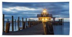 Walk To Roanoke Marshes Lighthouse Hand Towel