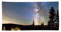 Walking Bridge To The Milky Way Hand Towel