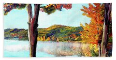 A Walk Down Lake Champlain Bath Towel