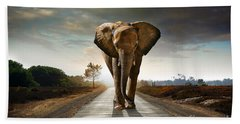 Walking Elephant Bath Towel