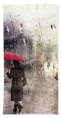 Walking In The Rain Somewhere Bath Towel