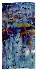 Hand Towel featuring the digital art Walking In The Rainfall by Darren Cannell