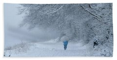 Walking In The Snow Hand Towel