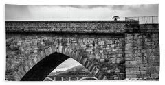Walking On The Roman Bridge Bath Towel