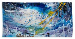 Walking On The Water Hand Towel by Kume Bryant
