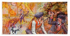 Walking The Dog 7 Bath Towel by Mark Jones