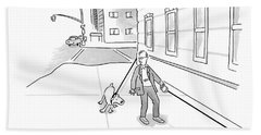 Walking The Dog Hand Towel