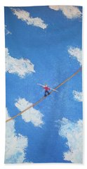 Walking The Line Hand Towel by Thomas Blood