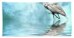 Walking Thru The Marsh Hand Towel by Cyndy Doty