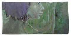 Bath Towel featuring the painting Walking With Wonder by Becky Kim