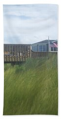Hand Towel featuring the photograph Walkway To Chicks Beach Virginia Beach On The Chesapeake Bay by Suzanne Powers