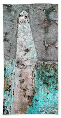 Bath Towel featuring the photograph Wall Abstract 118 by Maria Huntley