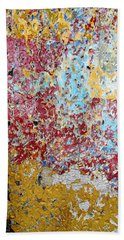 Bath Towel featuring the photograph Wall Abstract 123 by Maria Huntley