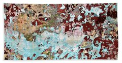 Wall Abstract 128 Hand Towel by Maria Huntley