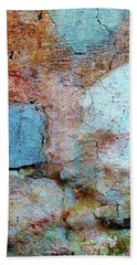 Bath Towel featuring the photograph Wall Abstract 138 by Maria Huntley