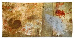Bath Towel featuring the photograph Wall Abstract 156 by Maria Huntley