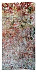 Bath Towel featuring the photograph Wall Abstract 169 by Maria Huntley