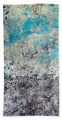 Wall Abstract 174 Bath Towel by Maria Huntley
