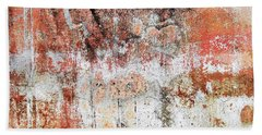 Wall Abstract  183 Bath Towel by Maria Huntley