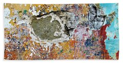 Wall Abstract 196 Hand Towel by Maria Huntley
