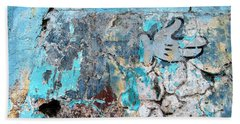 Wall Abstract 211 Bath Towel by Maria Huntley